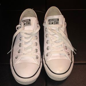 Leather Converse All Star shoes